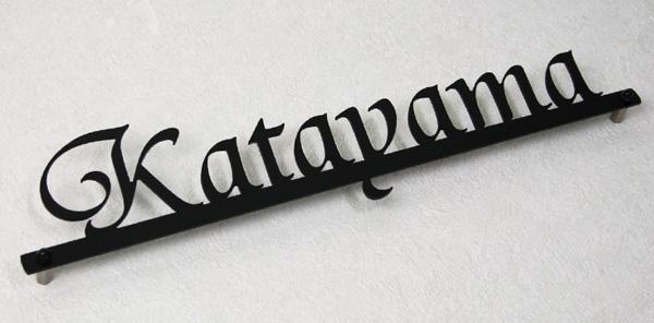 ステンレスレーザーカット(切り文字)表札シンプルライン。ラインは普通の太さです。
