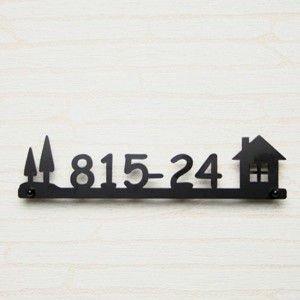 ステンレス ステンレスレーザーカット表札 番地・我が家 サンプル画像
