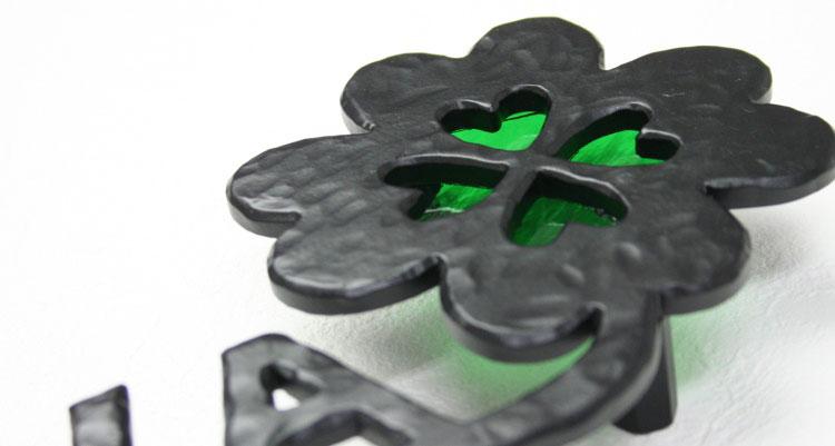 アルミ表札「幸せを運ぶ鍵」