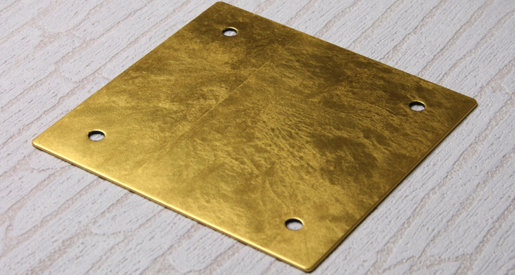 フラットガラス表札Gシリーズ正方形150クリアステンレス板・金箔仕様