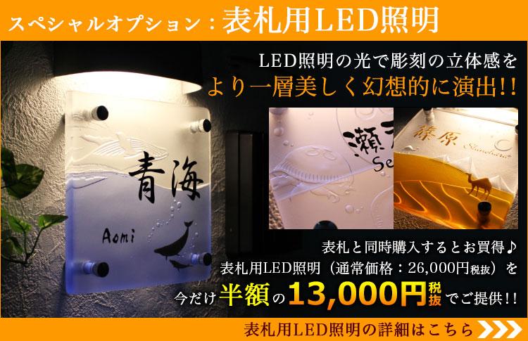 スペシャルオプション・表札用LED照明