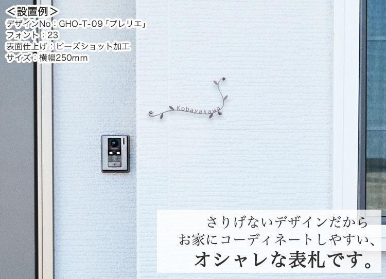 チタン表札シリーズ・GHO-T-09