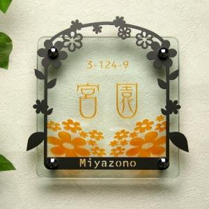 LS表札 「ガーデン」(フラットガラスGシリーズ正方形170)