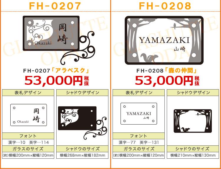 ZM表札FH-02「長方形」